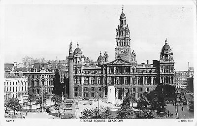 BR69849 george square real photo glasgow scotland
