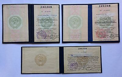 Original ! Set of Soviet Documents Military Academy USSR