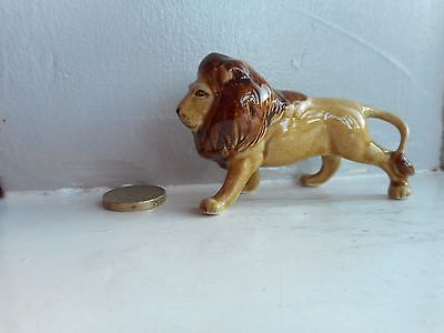 Lion / African Lion - Beautiful Miniature Pottery  Male  Lion - Standing