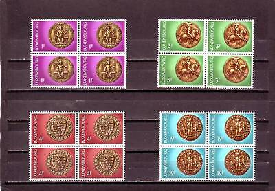 Luxembourg - Sg922-925 Mnh 1974 Seals In State Archives - Blocks Of 4