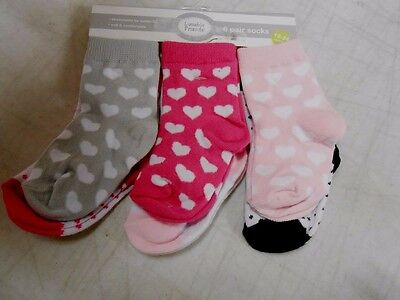 Luvable Friends Girl's Baby Socks- 6 Pairs, 12-24 Months