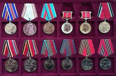 Original ! Small Collection of Soviet Medals in Box USSR