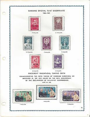 Philippines: Heirloom Quality - Superb Complete 38 Year (1962-1980) Mounted Mnh