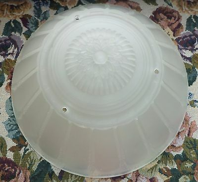Frosted Deco Antique 3 Chain Ceiling Fixture Glass Shade