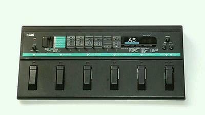 Korg A5 Bass, Performance Signal Processor, Effects FX Pedal Board, Vintage