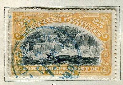 BELGIUM CONGO;   1890s early classic pictorial issue 25c. used, Postmark