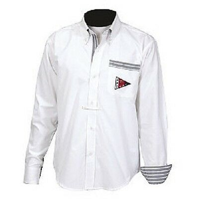 JaiPur Polo Men's Paxton Button Down Show Shirt White Medium or Large NEW