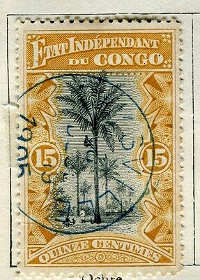 BELGIUM CONGO;   1890s early classic pictorial issue 15c. used,