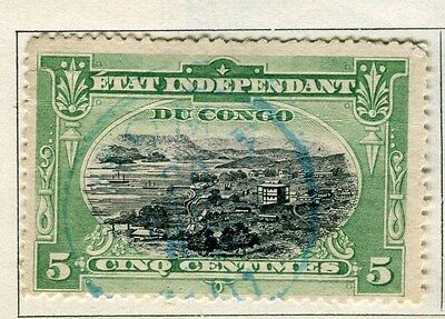 BELGIUM CONGO;   1890s early classic pictorial issue 5c. used,