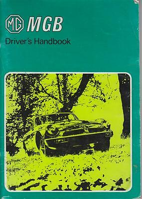 Mg Mgb Gt Coupe & Roadster Original 1980 Owners Instruction Handbook