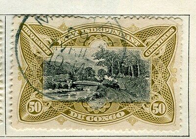 BELGIUM CONGO;   1900s early classic pictorial issue 50c. used,