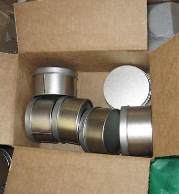 "5 Metal Boxes Jars Containers + Lids 3"" almost 2 inches tall FUN CLEARANCE SALE"