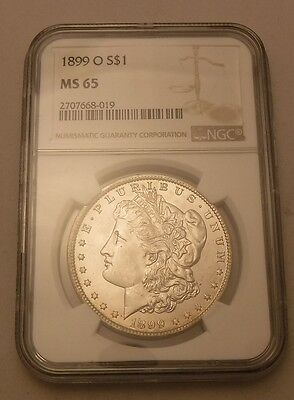 1899 O Morgan Silver Dollar Ngc Ms65  Better Date Frosty White