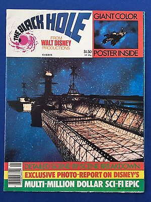"1979 Disney The Black Hole Poster Magazine 8.5"" x 11"" Giant Poster Centerfold"