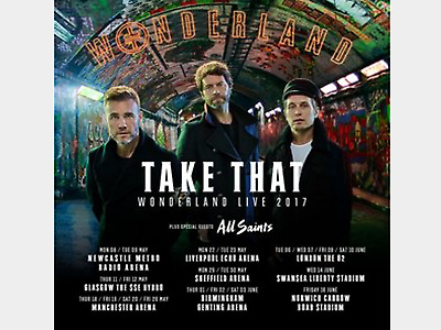 Take That standing ticket swansea