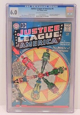 Justice League Of America #6 CGC Graded 6.0 Silver Age Key Comic Book