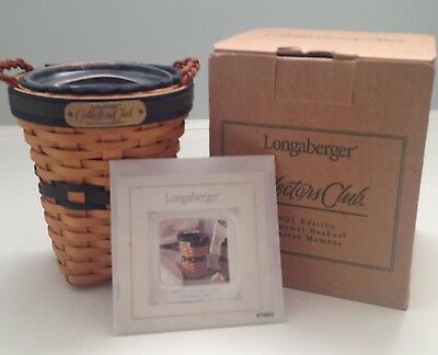 Longaberger 2001 Collectors Club Renewal Basket NIB