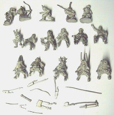 DIXON &  RAL PARTHA SAMURAI STANDING AND MOUNTED x 16 + WEAPONS