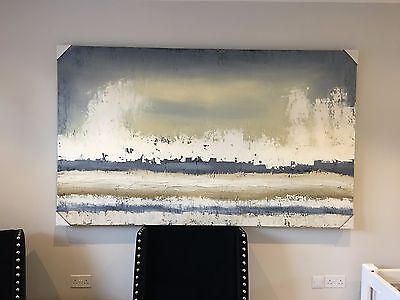 """Sarah Brooke Middle Of Nowhere Abstract """"autumn Shore"""" Original Xl Oil On Canvas"""