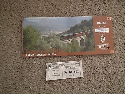 Tren de Soller Railway tickets Palma to Soller and Soller to Port de Soller