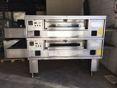 Middleby Marshall Ps570G Double Stack Nat. Gas Conveyor Pizza Oven