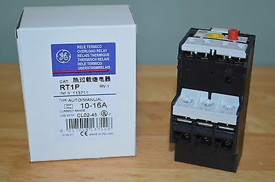 GENERAL ELECTRIC RT1P Overload Relay, Class 10, 10 to 16A G7526495