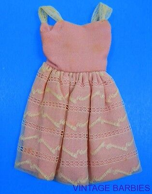 Skipper Doll PAK Party Pink Dress HTF ~ Vintage 1960's