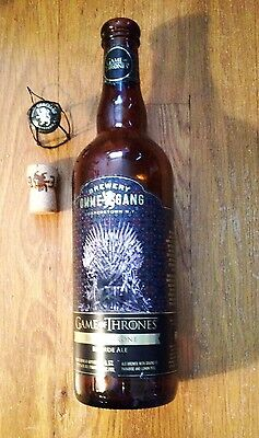 Game of Thrones Iron Throne Beer Bottle with Original Cork and Cage (Empty)