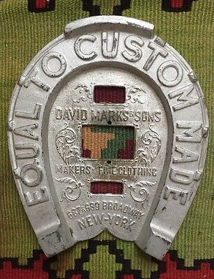 1910 David Marks & Sons Wall Plaque EQUAL TO CUSTOM MADE 687 Broadway New York
