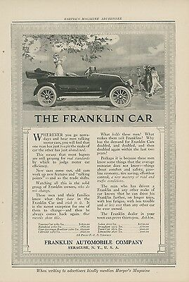 1917 Franklin Autombile Ad Touring Runabout Roadster Cabriolet Sedan Town Car