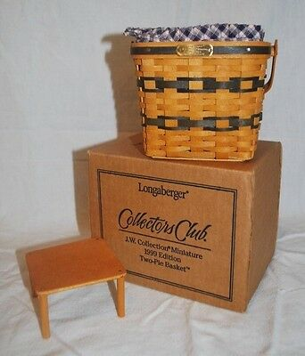 Longaberger 1999 Collectors Club Miniature Two-Pie Basket Combo