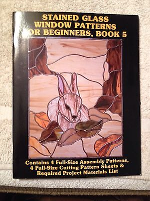 Stained glass window patterns for beginners, book 5, Hidden House Publications,