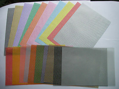Job Lot Pack 20 A4 sheets GINGHAM PATTERNED VELLUM & matching PAPERS New FREE
