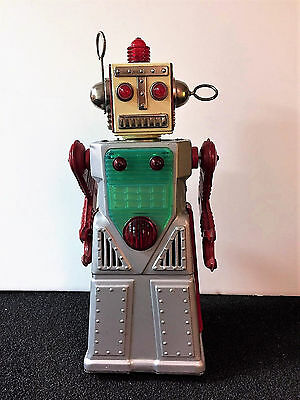 Yoshiya Chief Robotman Classic Tin Battery Operated Animated Robot made in Japan