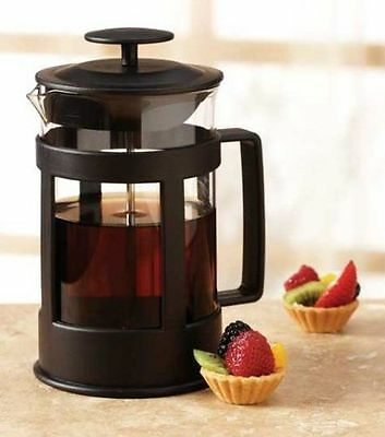 Everyday Essentials Black 6 Cup Glass French Coffee Press by Loblaws - Brand New