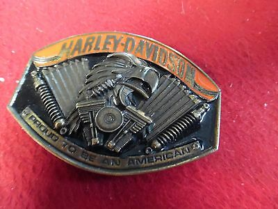 """Harley Davidson 'EAGLE' """"Proud to be an American"""" Belt Buckle Harmony Designs"""
