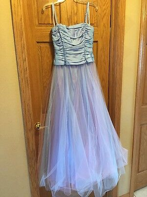 Prom Dress with Tulle Skirt Pink/blue/purple 9/10