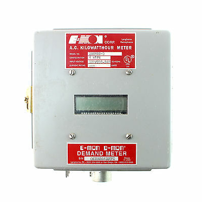 E-Mon D-Mon 208400-D Kilowatt Hour Demand Meter, 400A, 4 Wire, 120/208-240V