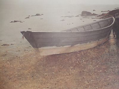 """1976 Artist Signed Print """"The Dory"""" by Vern Broe"""