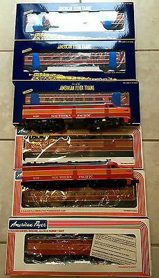 American Flyer New Southern Pacific Daylight Aba Diesel Passenger Set 5 Cars