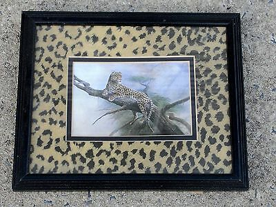 Leopard Print, Wall Frame Leopard Pattern and Print, Hanging, Wood, Glass   f/s