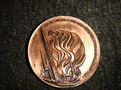 State of Israel Coin Medal IGCMC 1963 The Ghetto Uprising 20th Anniversary WW2