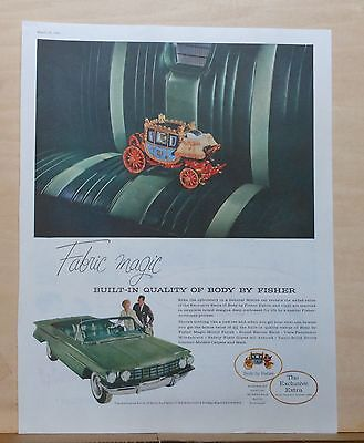 1960 magazine ad for Oldsmobile - Olds 98 Convertible upholstery, Fabric Magic