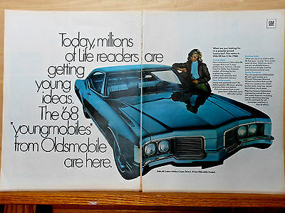 1967 two page magazine ad for Oldsmobile - 1968  Delta 88 Custom Holiday Coupe