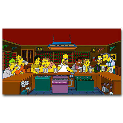 The Simpsons  The Last Supper  Anime Silk Poster Print 13×24 inch 01