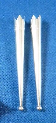 ONE pair NEW Sterling Silver BOLO TIPS beaded bola tie tips
