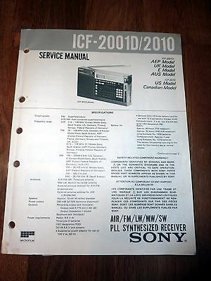 SONY ICF-2001D SERVICE MANUAL Genuine 86 page Service Manual