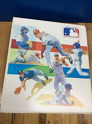 "Vintage MLB 3 Ring Binder 2""  Baseball Card Holder"