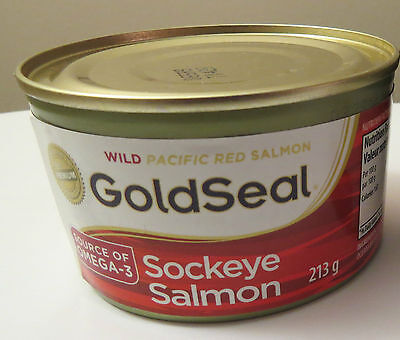 Wild Salmon / Sockeye / Gold Seal / 213g Can / Shipped from Canada