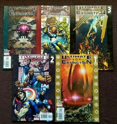 Ultimate Extinction 1-5 Warren Ellis Comic Run Set 1 2 3 4 5 Total Comics